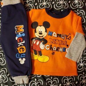 Mickey Mouse fleece set